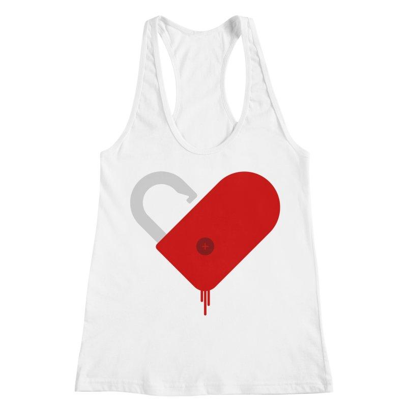 Open Heart Women's Racerback Tank by Offset