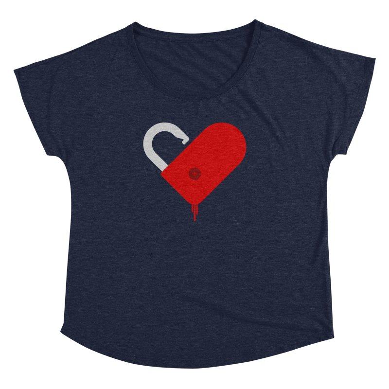 Open Heart Women's Dolman Scoop Neck by Offset