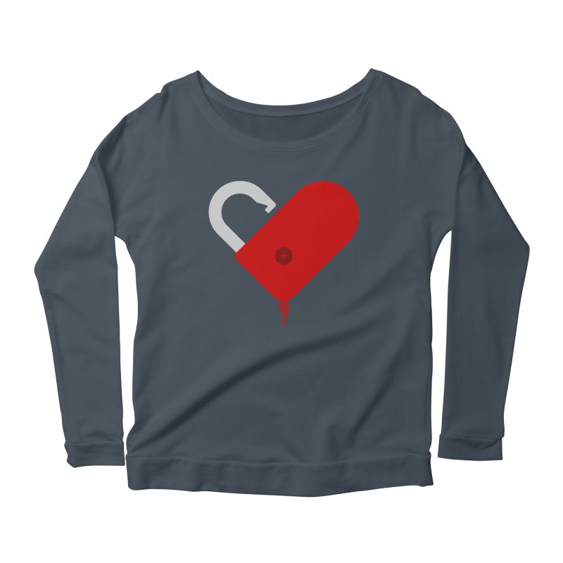 Open Heart Women's Scoop Neck Longsleeve T-Shirt by Offset