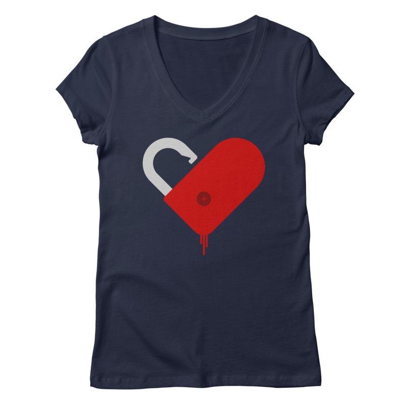Open Heart Women's Regular V-Neck by Offset