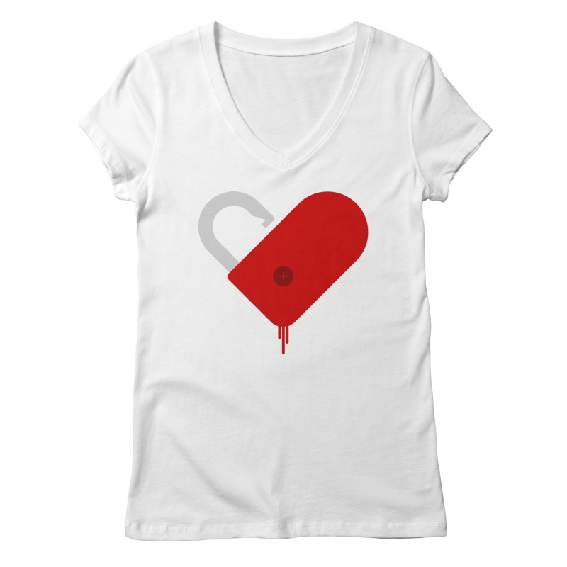 Open Heart Women's Regular V-Neck by Offset