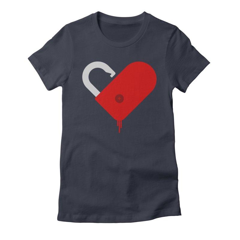 Open Heart Women's Fitted T-Shirt by Offset