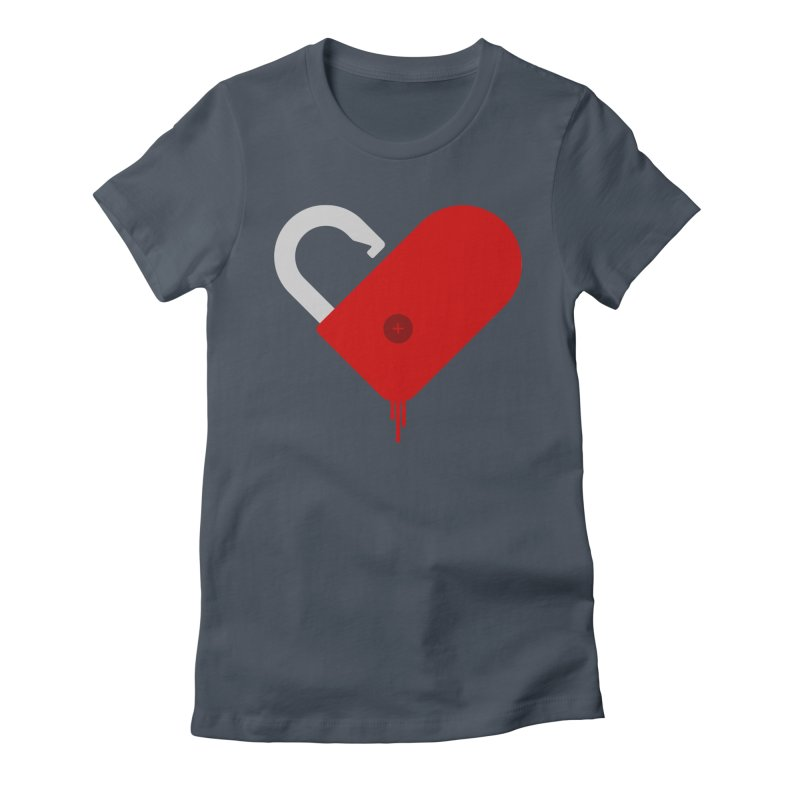 Open Heart Women's Fitted T-Shirt by Offset