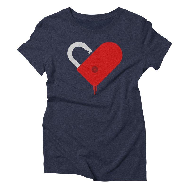 Open Heart Women's Triblend T-Shirt by Offset