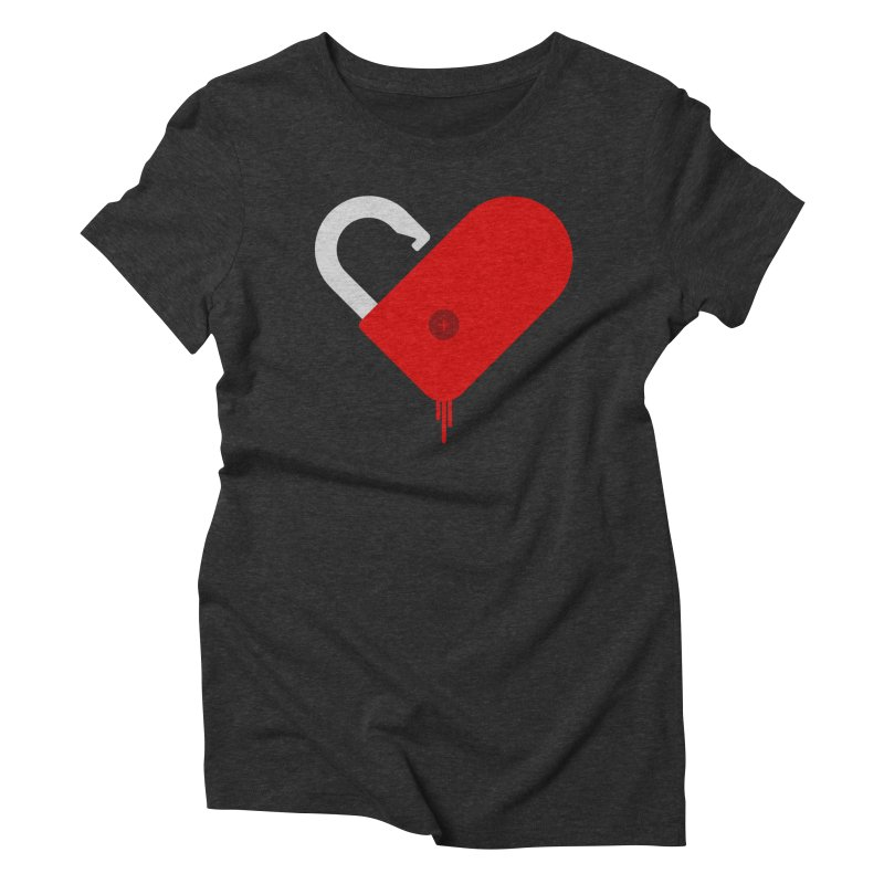 Open Heart Women's Triblend T-Shirt by Offset