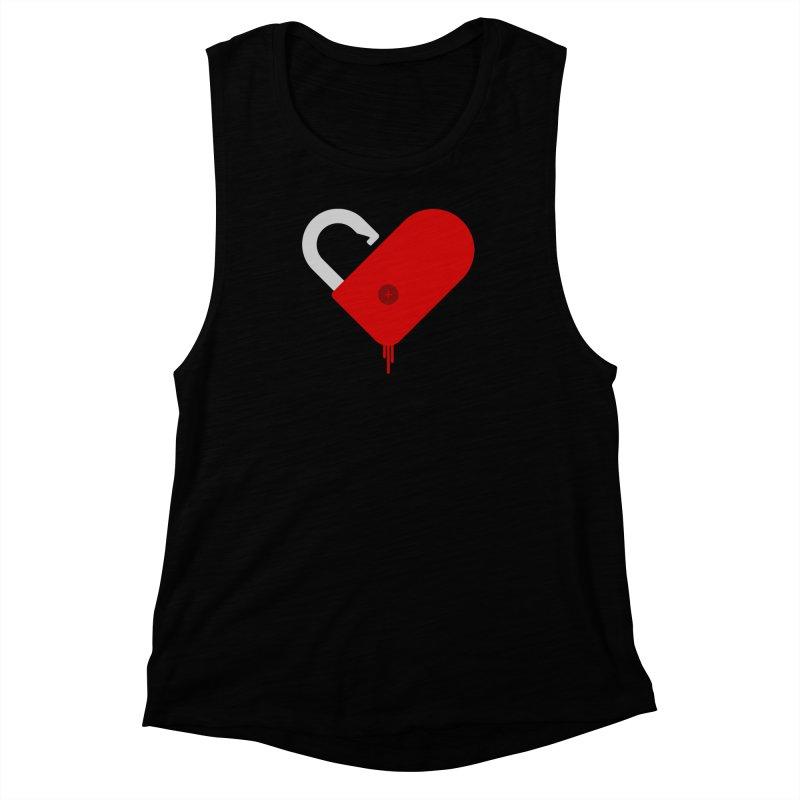 Open Heart Women's Muscle Tank by Offset