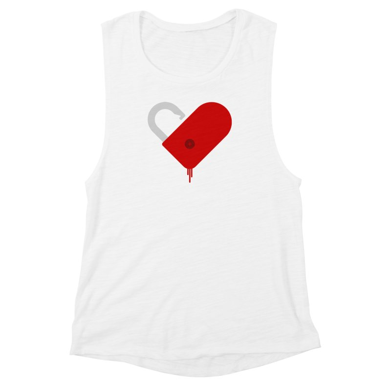Open Heart Women's Muscle Tank by Offset