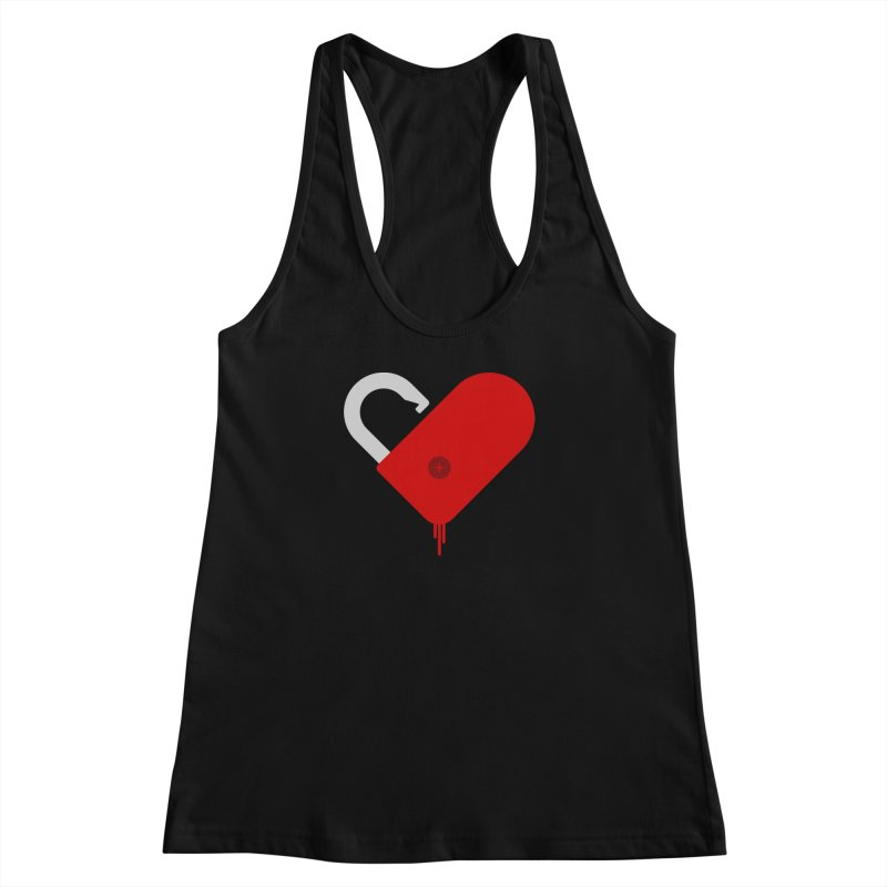 Open Heart Women's Racerback Tank by Offset