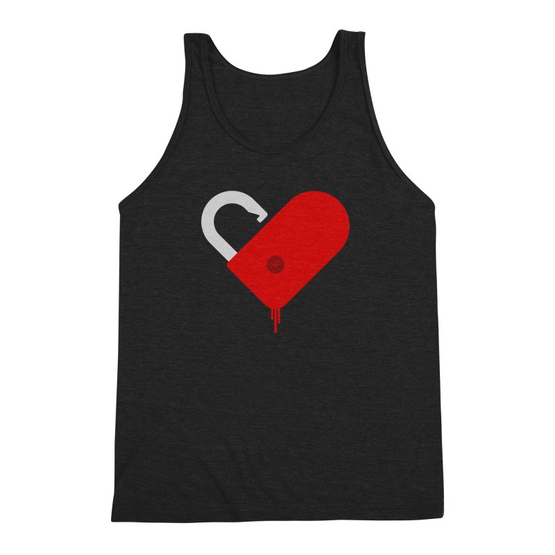 Open Heart Men's Triblend Tank by Offset