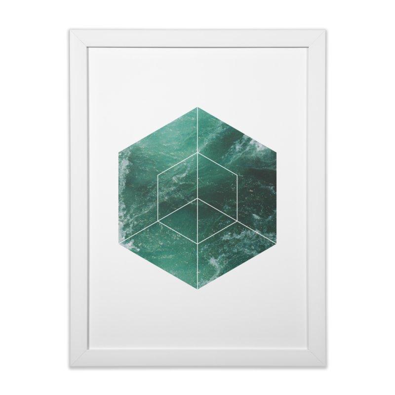 Aqua Marine in Framed Fine Art Print White by Offset