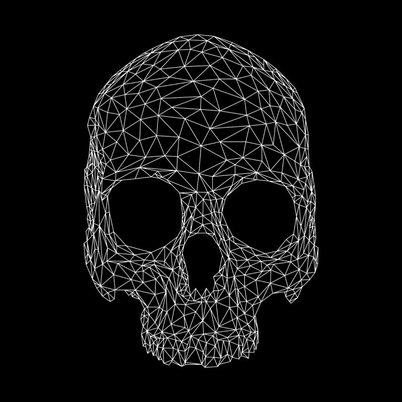 Polygon Skull Women's T-Shirt by Offset