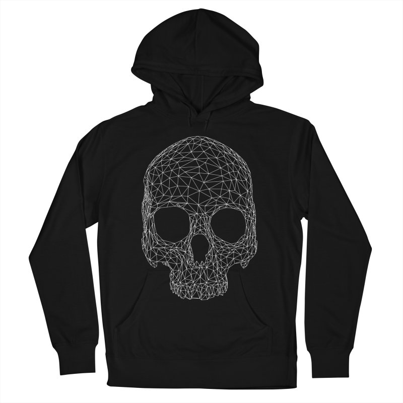 Polygon Skull Women's French Terry Pullover Hoody by Offset