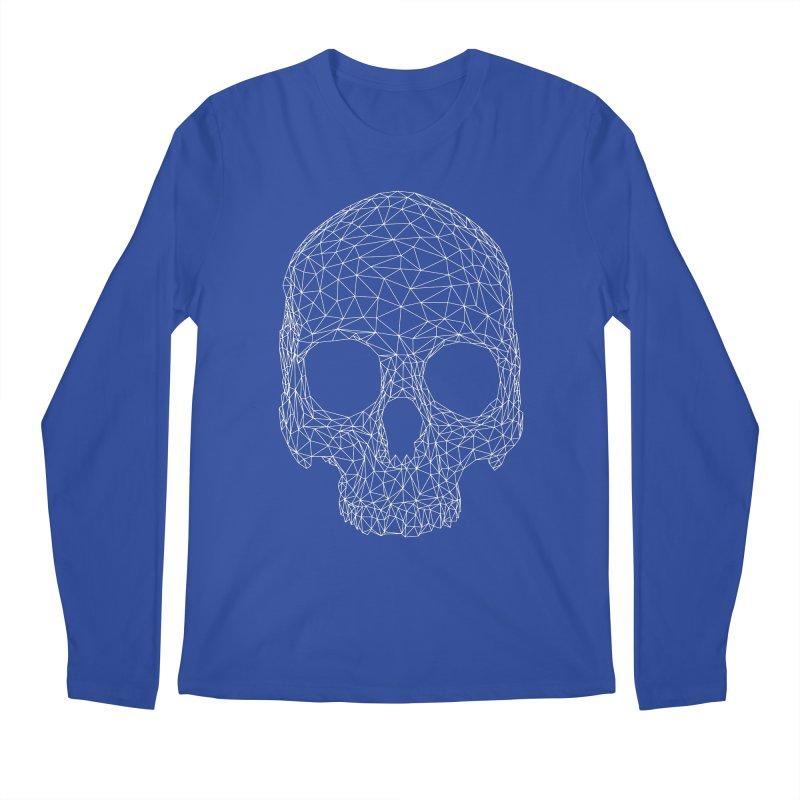 Polygon Skull Men's Regular Longsleeve T-Shirt by Offset
