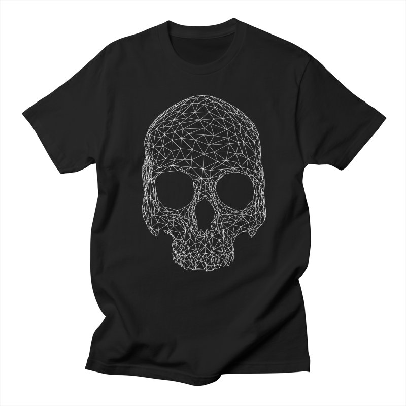 Polygon Skull in Men's Regular T-Shirt Black by Offset