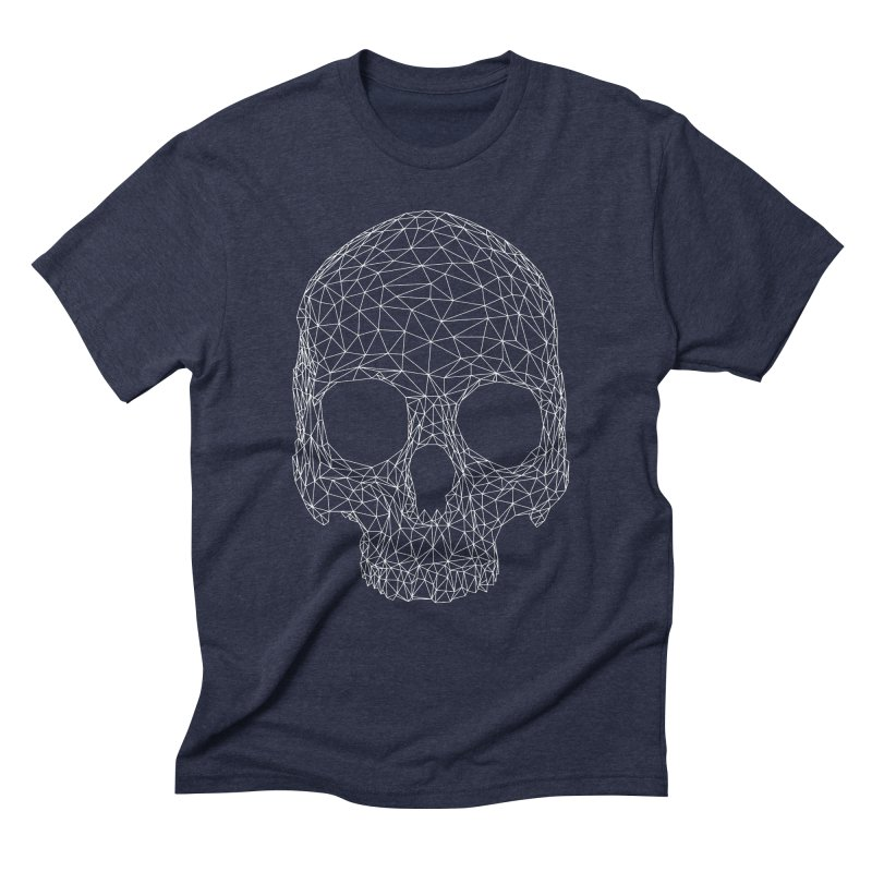 Polygon Skull Men's Triblend T-Shirt by Offset