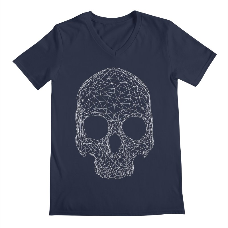 Polygon Skull Men's Regular V-Neck by Offset