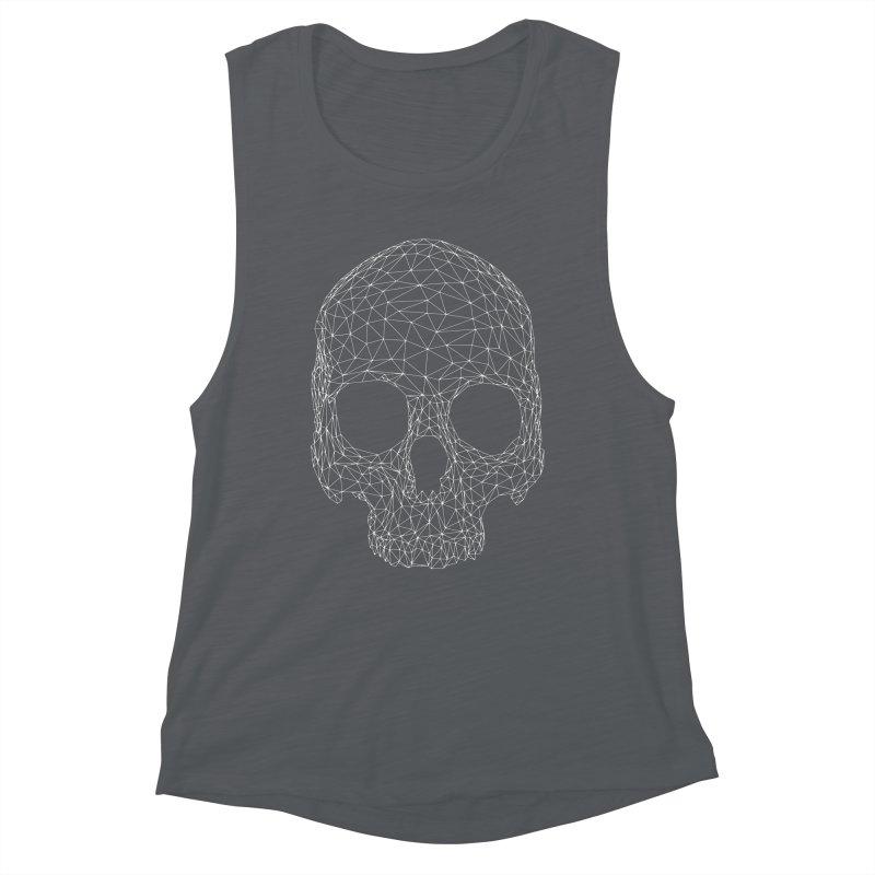 Polygon Skull Women's Muscle Tank by Offset