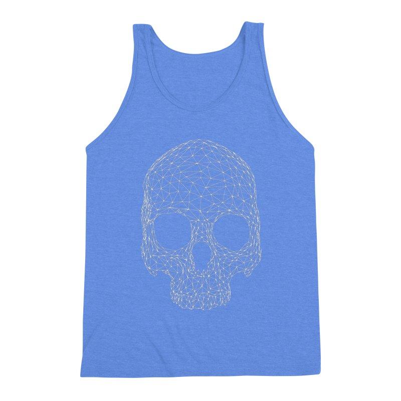 Polygon Skull Men's Triblend Tank by Offset