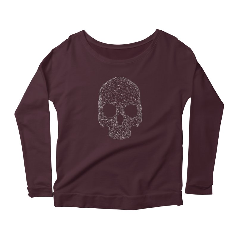 Polygon Skull Women's Longsleeve T-Shirt by Offset