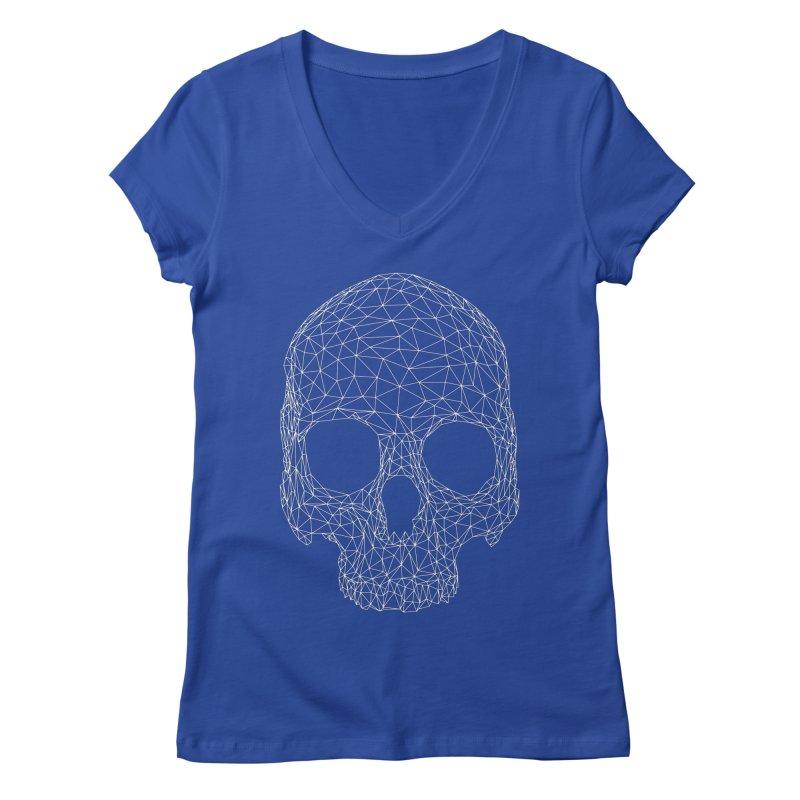 Polygon Skull Women's Regular V-Neck by Offset