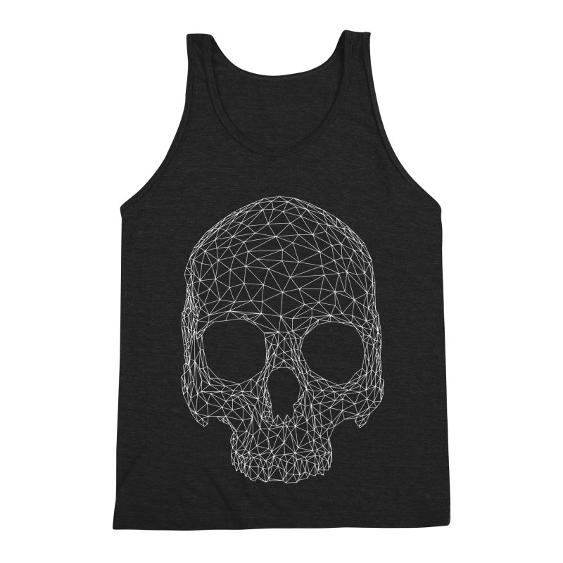 Polygon Skull Men's Triblend Tank by Offset