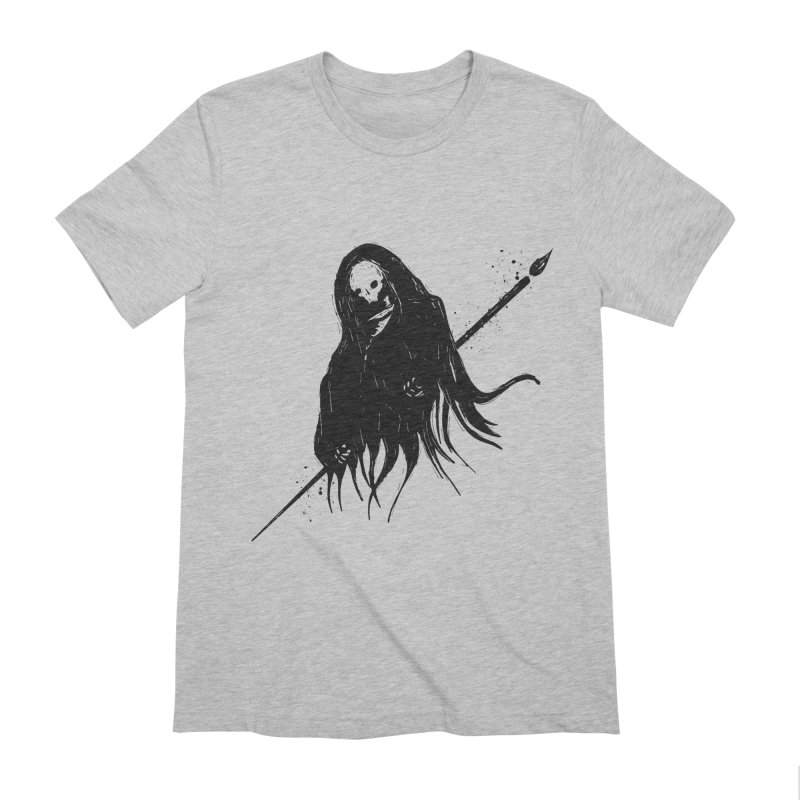 Ink Reaper | Dark on Light in Men's Extra Soft T-Shirt Heather Grey by Colleen Palmer's Artist Shop