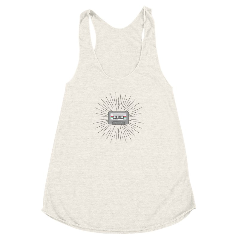 I made you a mix tape. Women's Racerback Triblend Tank by colleensweeney's Artist Shop