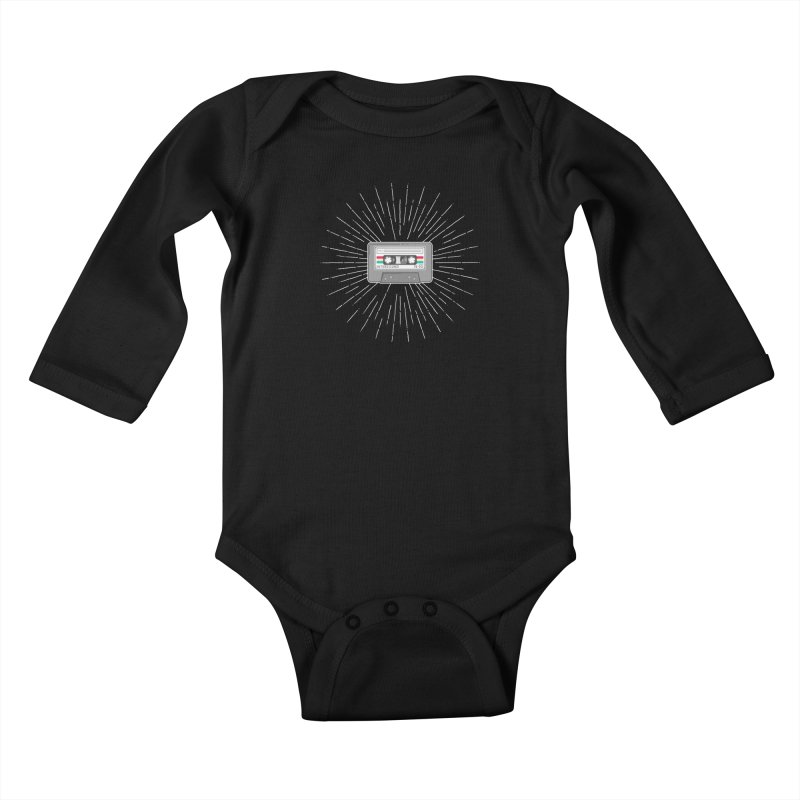 I made you a mix Tape Kids Baby Longsleeve Bodysuit by colleensweeney's Artist Shop