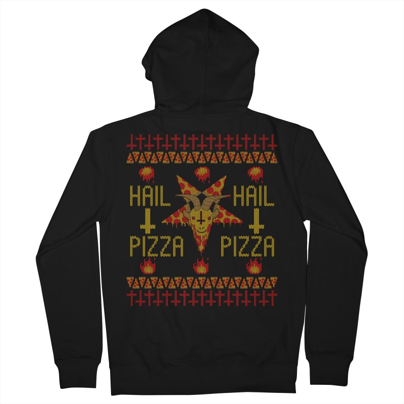 HAIL PIZZA: HOLADAz Men's Zip-Up Hoody by Robotboot Artist Shop