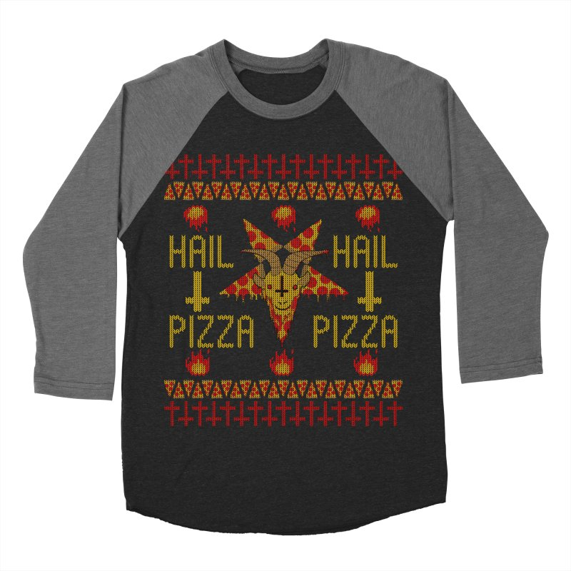HAIL PIZZA: HOLADAz Men's Baseball Triblend T-Shirt by Robotboot Artist Shop