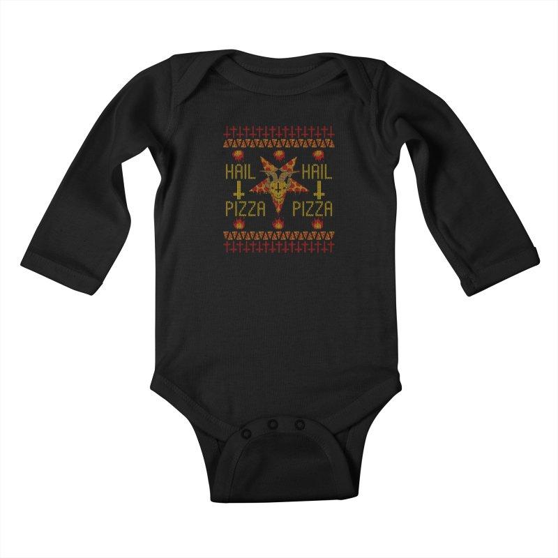 HAIL PIZZA: HOLADAz Kids Baby Longsleeve Bodysuit by Robotboot Artist Shop