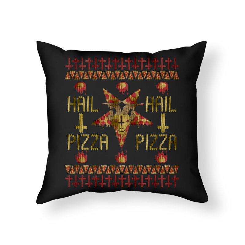 HAIL PIZZA: HOLADAz Home Throw Pillow by Robotboot Artist Shop
