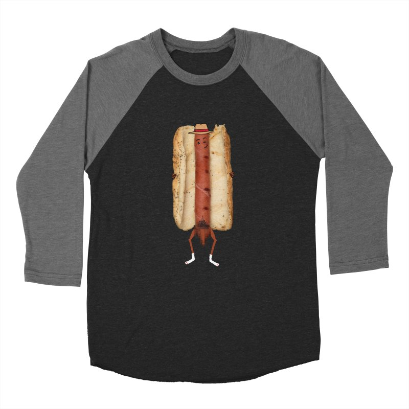 Hot Dawg Men's Baseball Triblend T-Shirt by Robotboot Artist Shop