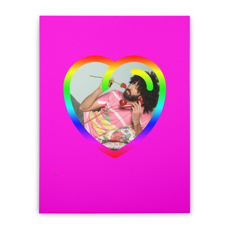 TALK TO ME LIKE LOVERS DO! Home Stretched Canvas by Robotboot Artist Shop