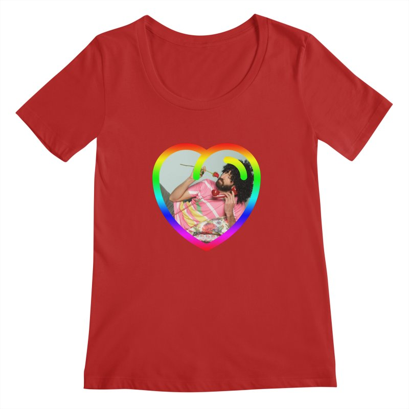 TALK TO ME LIKE LOVERS DO! Women's Scoopneck by Robotboot Artist Shop