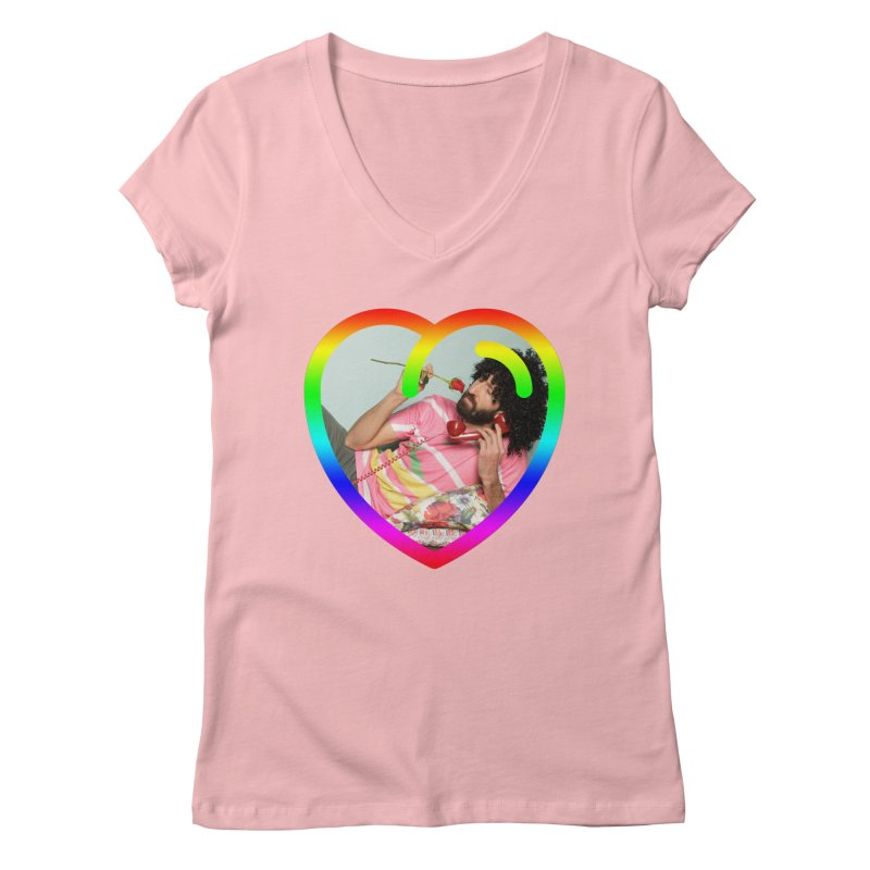 TALK TO ME LIKE LOVERS DO! Women's V-Neck by Robotboot Artist Shop