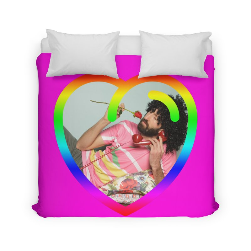 TALK TO ME LIKE LOVERS DO! Home Duvet by Robotboot Artist Shop