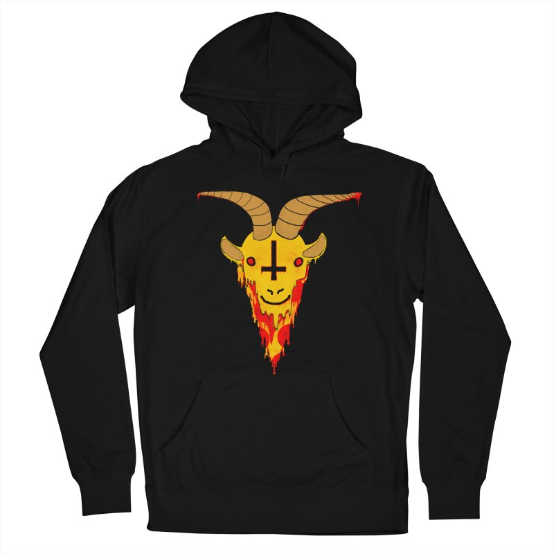 Hail Pizza Goat Men's Pullover Hoody by Robotboot Artist Shop