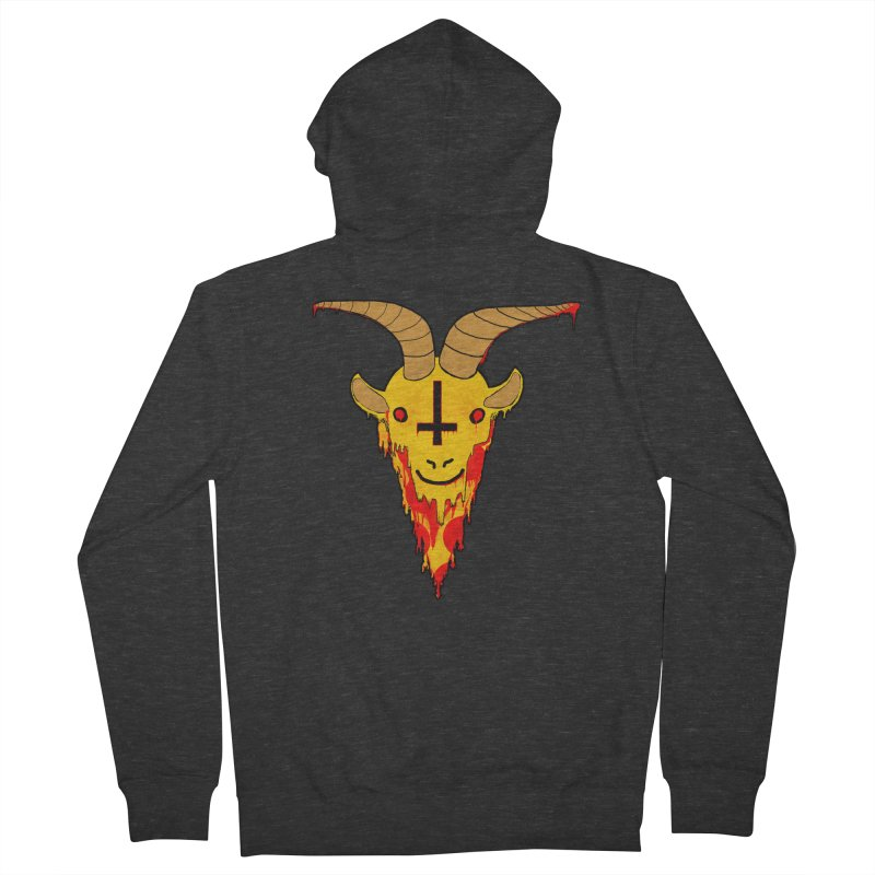 Hail Pizza Goat Men's Zip-Up Hoody by Robotboot Artist Shop
