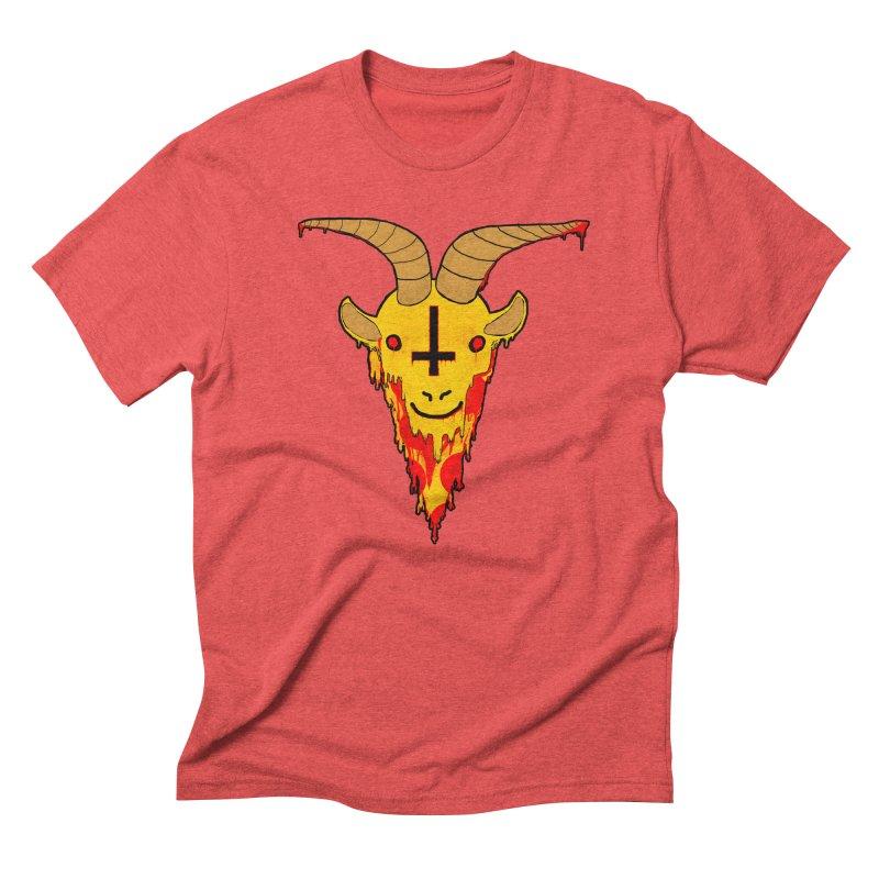 Hail Pizza Goat Men's Triblend T-shirt by Robotboot Artist Shop