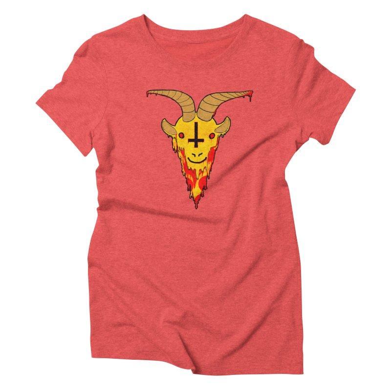 Hail Pizza Goat Women's Triblend T-Shirt by Robotboot Artist Shop