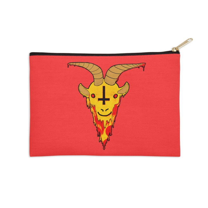 Hail Pizza Goat Accessories Zip Pouch by Robotboot Artist Shop