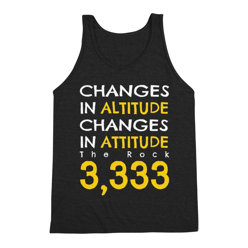 The Rock - Changes in Altitude Changes in Attitude Men's Triblend Tank by Collin's Shop