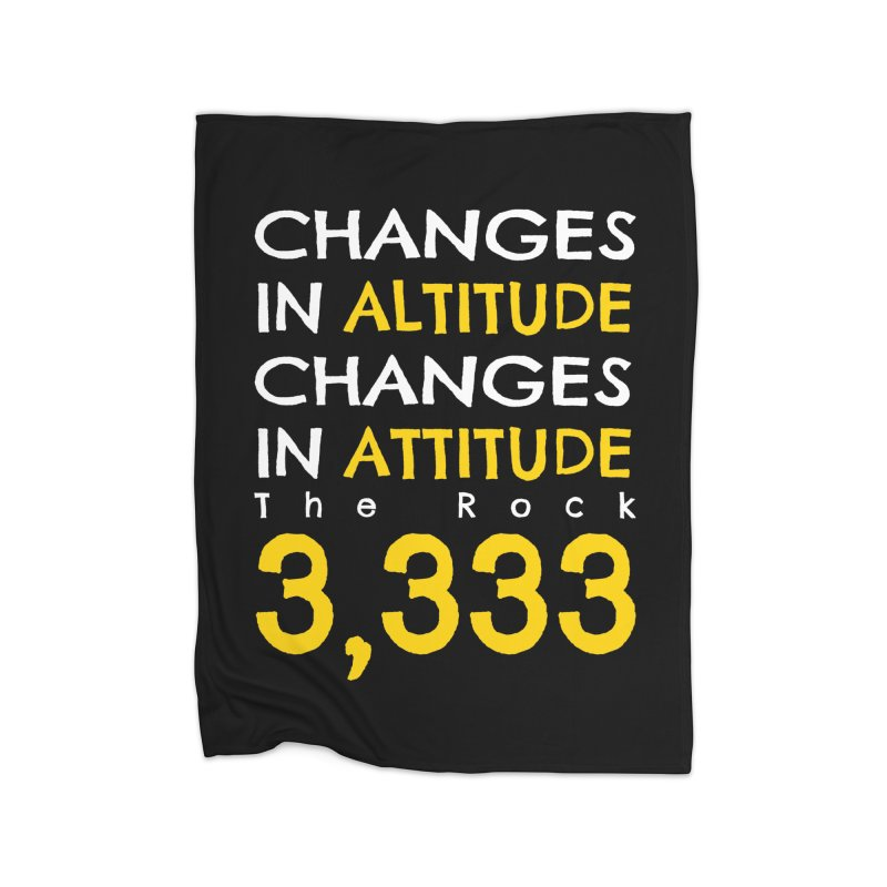 The Rock - Changes in Altitude Changes in Attitude Home Fleece Blanket Blanket by Collin's Shop