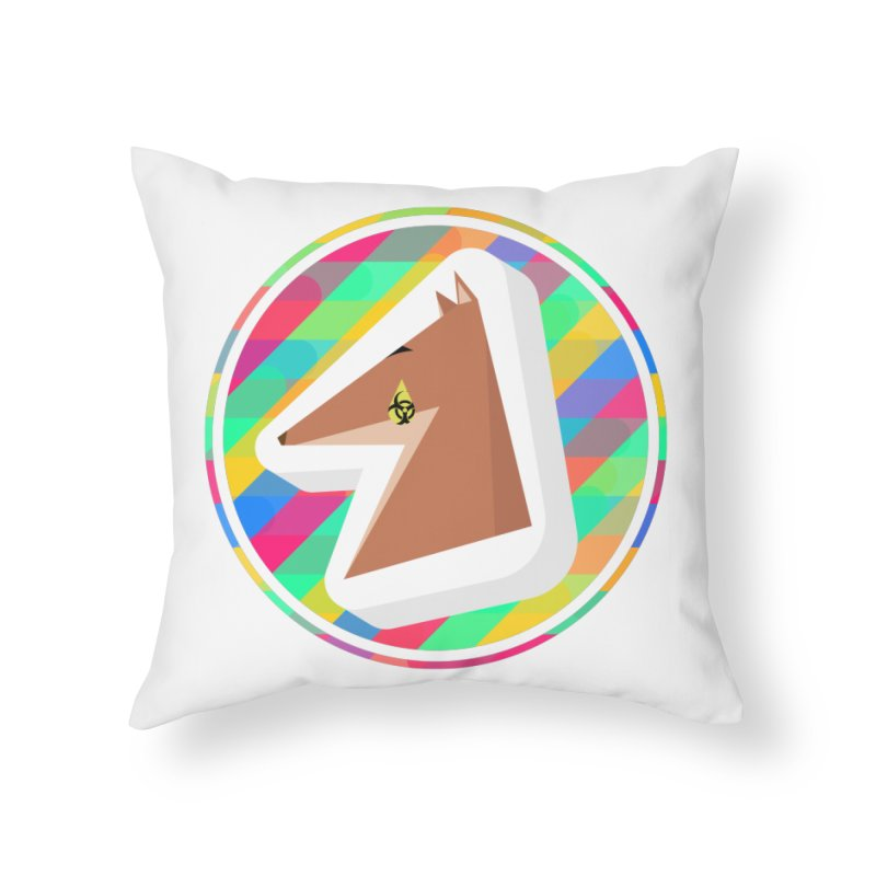 Toxic Fox Home Throw Pillow by Collin's Shop