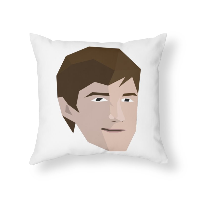 Chase Costner's Face Home Throw Pillow by Collin's Shop