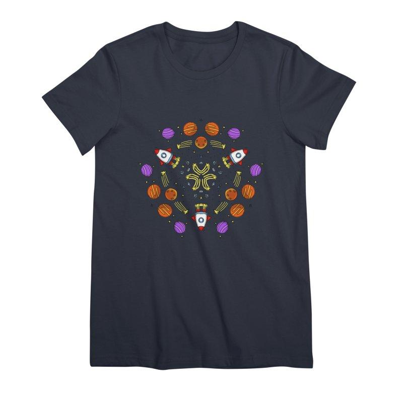 Symmetric Space Women's Premium T-Shirt by Colmena Ink's Shop