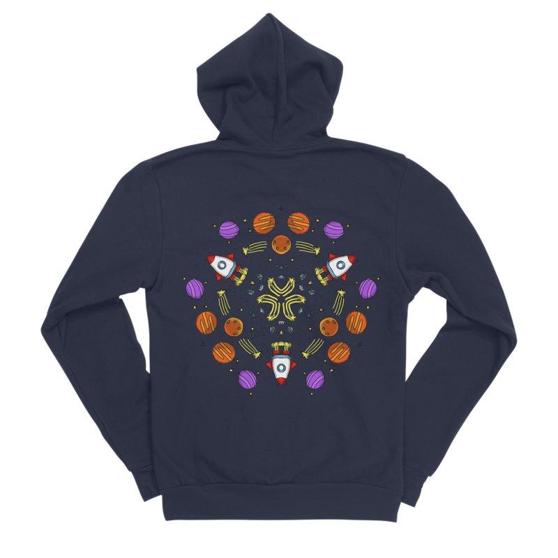 Symmetric Space Men's Sponge Fleece Zip-Up Hoody by Colmena Ink's Shop