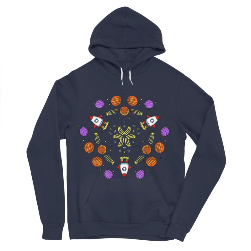 Symmetric Space Men's Sponge Fleece Pullover Hoody by Colmena Ink's Shop