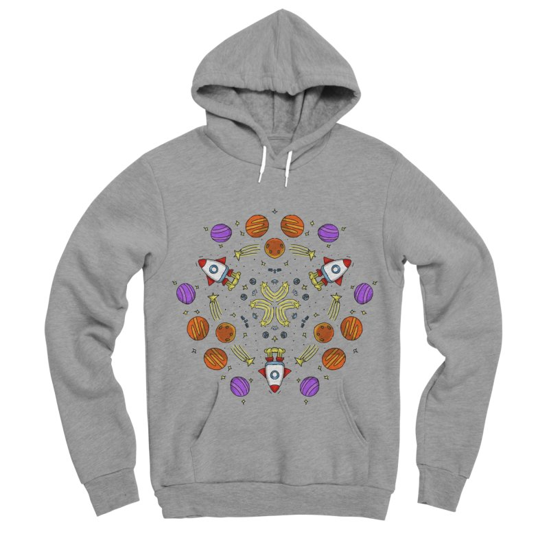 Symmetric Space Women's Sponge Fleece Pullover Hoody by Colmena Ink's Shop